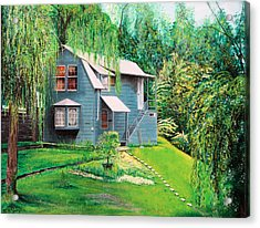 Acrylic Print featuring the painting House Woodstock Ny by Stuart B Yaeger
