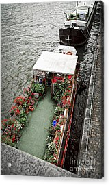Houseboats In Paris Acrylic Print