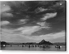 Houseboats On Lake Powell Acrylic Print by Andrew Soundarajan