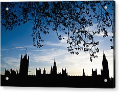 Houses Of Parliament Silhouette Acrylic Print by Axiom Photographic