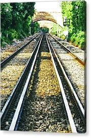 Acrylic Print featuring the photograph How Come They Never Go Up The Middle by Steve Taylor