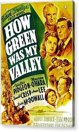 How Green Was My Valley, Donald Crisp Acrylic Print by Everett