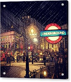 How London Looks Like At Night? May Acrylic Print by Abdelrahman Alawwad