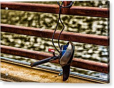 Acrylic Print featuring the photograph How Not To Lock Your Bike by Tom Gort
