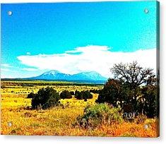 Spanish Peaks Acrylic Print