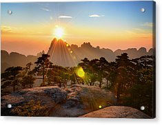 Huangshan Mountain Range Acrylic Print by Andy Brandl