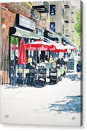 Acrylic Print featuring the painting Hudson Diner by Tom Riggs