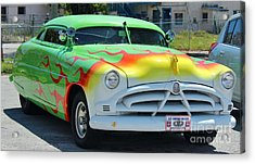 Hudson Low Rider Roadster Acrylic Print by Rene Triay Photography
