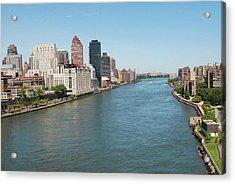 Hudson River, New York City Acrylic Print by Thepurpledoor