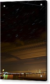 Hudson Star Trails Acrylic Print by Mike Horvath