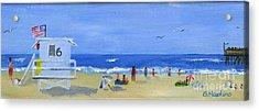 Hueneme Beach  Acrylic Print by Sheryl Heatherly Hawkins