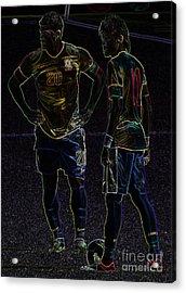 Hulk And Neymar Neon II Acrylic Print