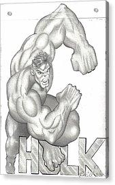 Hulk Acrylic Print by Rick Hill