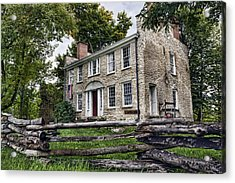 Hull House 1810 Acrylic Print by Peter Chilelli