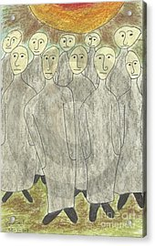 Human Body Day Of Judgment Acrylic Print by Ahmed  Elzalabany