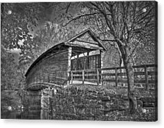 Acrylic Print featuring the photograph Humpback Bridge Bw by Williams-Cairns Photography LLC