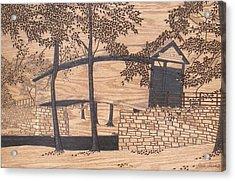 Humpback Covered Bridge Acrylic Print by Stan Shirk