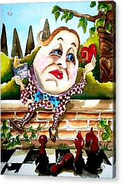 Humpty Dumpty Acrylic Print by Lucia Stewart
