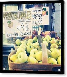 #hunersorchard #indiana #peaches Acrylic Print