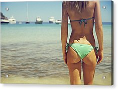 Hungarian Girl In Mallorca Acrylic Print by Andy Quarius
