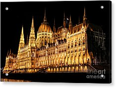 Hungarian Parliament Building Acrylic Print by Mariola Bitner