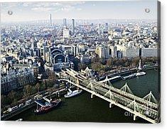 Hungerford Bridge Seen From London Eye Acrylic Print by Elena Elisseeva