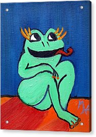 Hungry Female Frog Acrylic Print