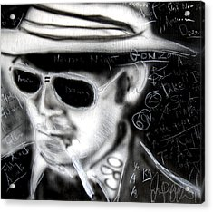 Hunter S Thompson American Dream  Acrylic Print by Jon Baldwin  Art