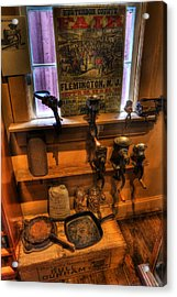 Hunterdon County Fair - General Store - Vintage - Nostalgia - Meat Grinders Acrylic Print by Lee Dos Santos