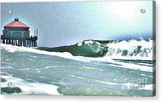 Huntington Wave Acrylic Print