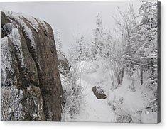 Hurricane Mt In Winter Acrylic Print