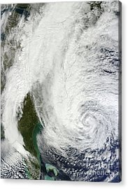 Hurricane Sandy Off The Southeastern Acrylic Print by Stocktrek Images