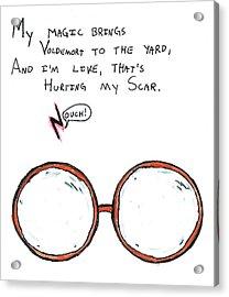 Hurting My Scar Acrylic Print by Jera Sky