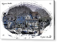 Acrylic Print featuring the photograph Hyannis Harbor Greetings by Jack Torcello