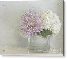 Hydrangea And Mum Acrylic Print