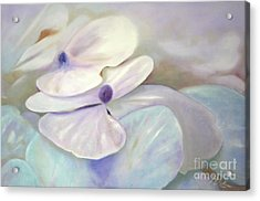 Acrylic Print featuring the painting Hydrangea Petals by Michael Rock
