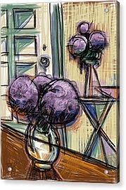Hydrangeas Galore Acrylic Print by Russell Pierce