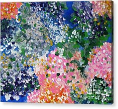 Acrylic Print featuring the painting Hydrangeas I by Alys Caviness-Gober