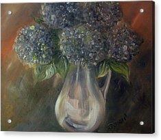 Acrylic Print featuring the painting Hydrangeas by Raymond Doward