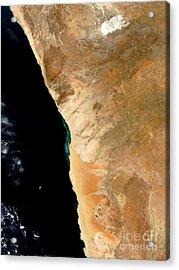 Hydrogen Sulfide Eruption Off Namibia Acrylic Print by Nasa