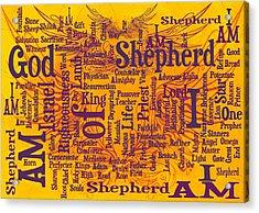 I Am Shepherd 2 Acrylic Print by Angelina Vick