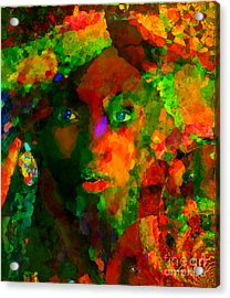 I Am Who I Am Acrylic Print by Fania Simon
