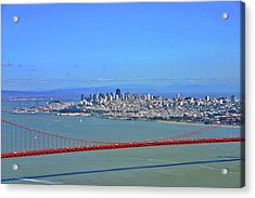 Acrylic Print featuring the photograph I Don't See No Stinkin' Fog Golden Gate San Francisco California by Duncan Pearson