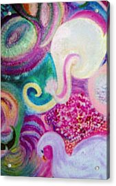 I Had A Dream About A White Elephant Acrylic Print by Anne-Elizabeth Whiteway