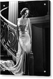 I Live My Life, Joan Crawford Wearing Acrylic Print by Everett