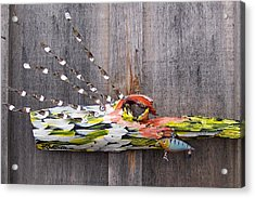 I Love Fish Acrylic Print by Krista Ouellette