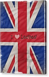 I Love London Acrylic Print by Sharon Lisa Clarke