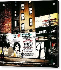 I Love The Lower East Side - New York City Acrylic Print
