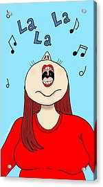 I Love To Sing Acrylic Print by Ana Tirolese