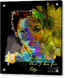 I Love Your Poetry Acrylic Print by Fania Simon